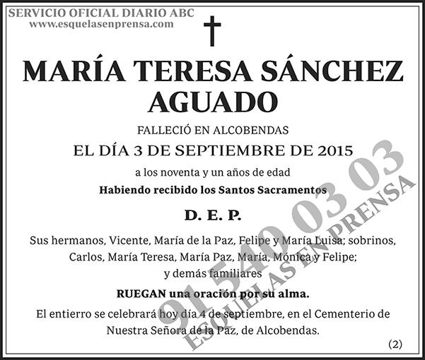 María Teresa Sánchez Aguado